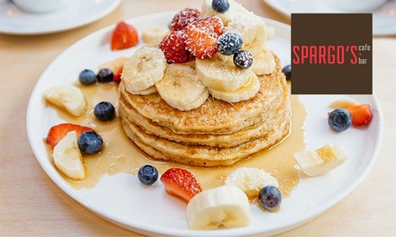Gourmet Breakfast and Coffee for Two ($24) or Four People ($46) at Spargos Cafe and Bar Plympton (Up to $107.60 Value)