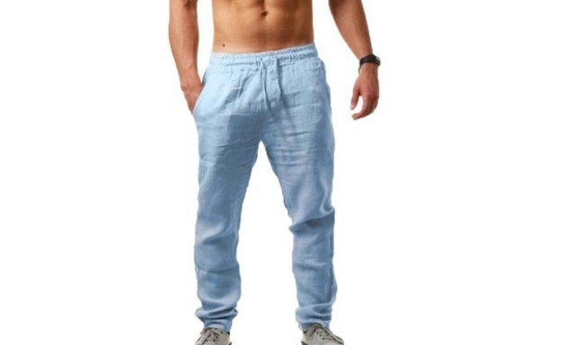 Mens Cotton Linen Pants: One ($19.95) or Two ($33)