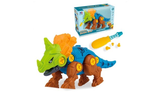 Kids Educational DIY Dinosaur Assembly Set in Choice of Design: One Set ($15) or Two Sets ($25)
