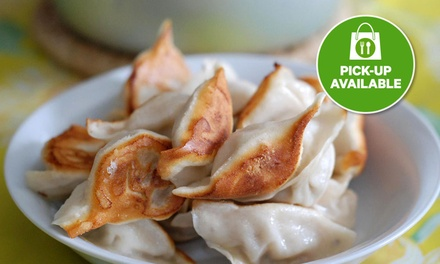 Dumplings with Pork Bun + Drink for One ($6.50) or Two People ($13) at Dumpling Hut   CBD (Up to $22 Value)