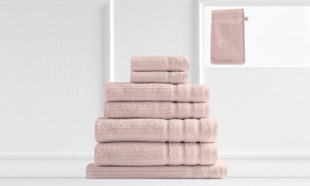 $35 for a 600GSM 100% Egyptian Cotton Eight Piece Towel Set (Dont Pay $129.95)
