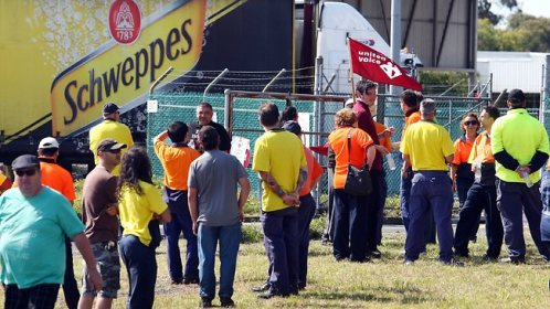 Schweppes lockout April 2012