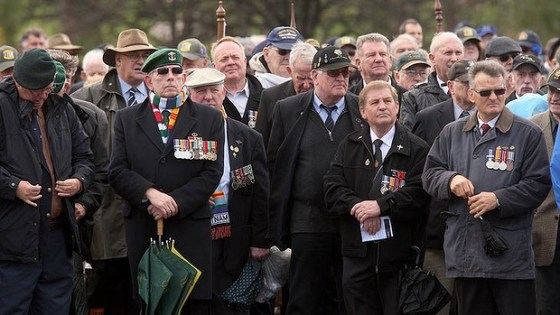 Australian Vietnam Vets at The Shrine of Remembrance 2012