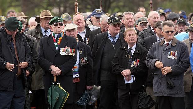 Australian Vietnam Vets at The Shrine of Remembrance 2012