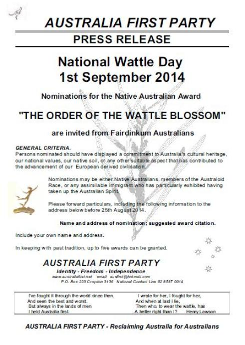 National Wattle Day 1
