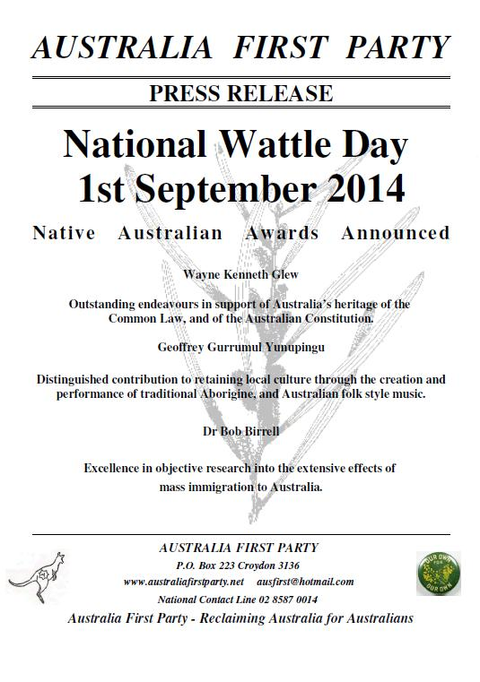 Wattle Day 2014 Awards