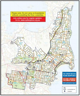 Jewish Eruv walled city of Sydney's East
