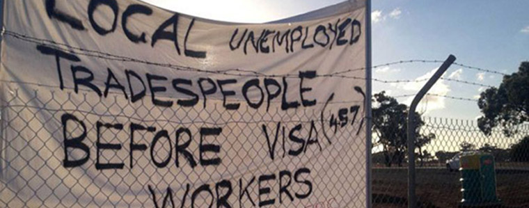 Immigrants stealing local jobs