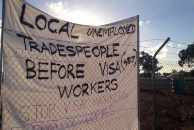 Tony Sheldon's 457 Visa Scabs