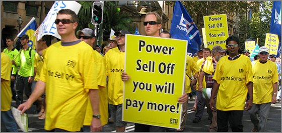 NSW Power Sell Off
