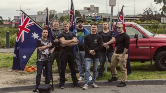 United Patriots Front protest against the ABC's islamism