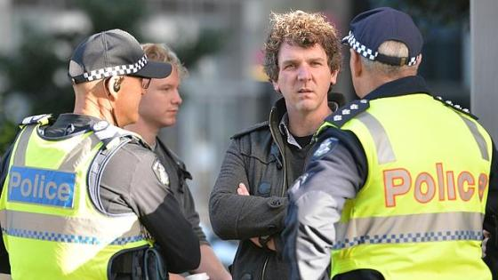 Anthony Main monitored by Victorian Police