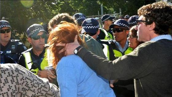 Mel Gregson cops assault from comrade Anthony Maim