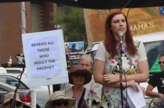 Mel Gregson tunnel minded protest