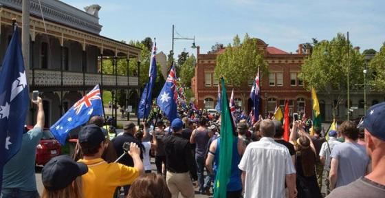 Australian patriotic rally in Bendigo