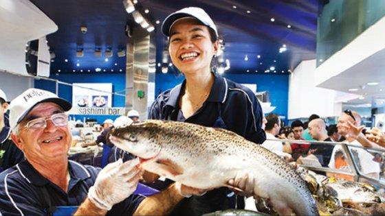 Catch big fish at Sydney Fish Markets