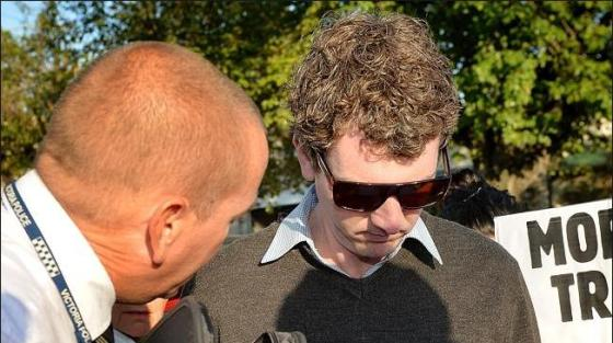 Police issue Anthony Main with a court summons