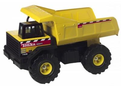 Boys play with Tonka Trucks
