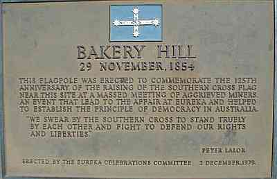 Bakery Hill Plaque