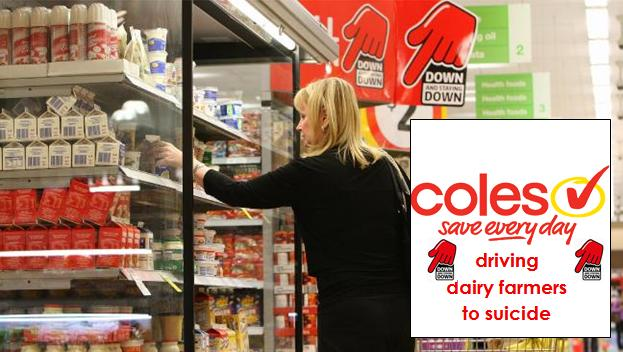Coles Down Down to Dairy Farmer Suicide