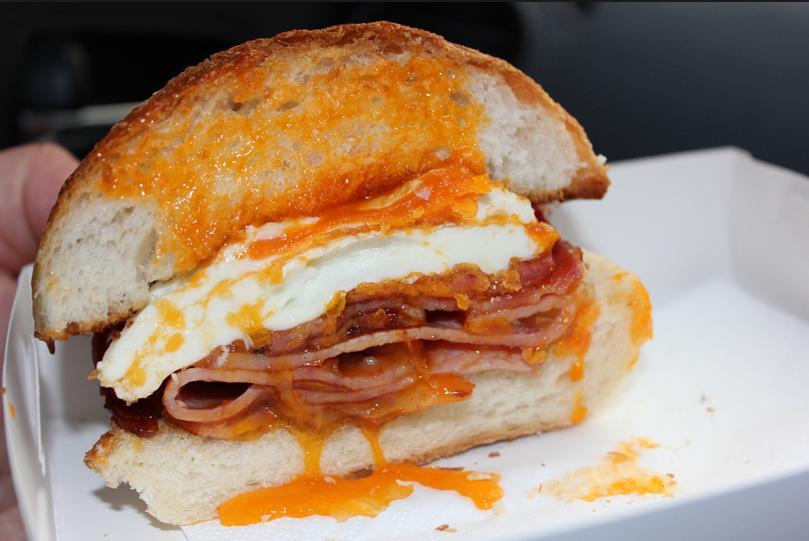 Ramadan Bacon and Egg Roll