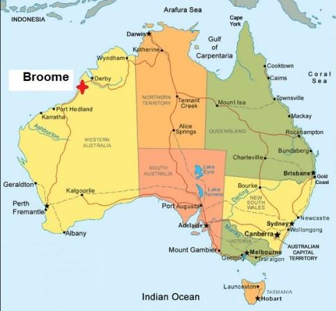 Map. Broome
