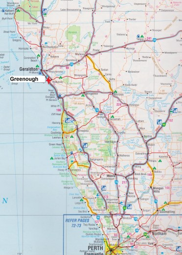 Map. Greenough