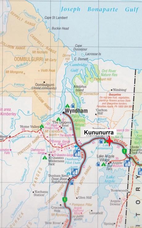 map Kununurra