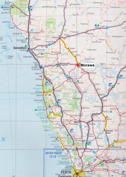 Map. Morawa
