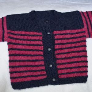 Childs Striped Cardigan