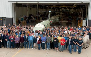 Cessna staff with the 300th Mustang. (Cessna)