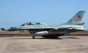 An RAAF file image of an Indonesian F-16 at Darwin.