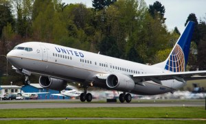 The 8,000th 737 delivery was to United Airlines. (Boeing)