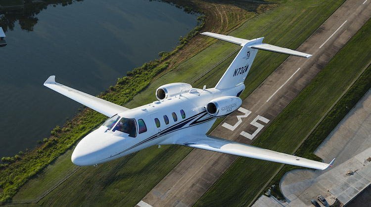 A Cessna Citation M2 takes off. (Cessna)