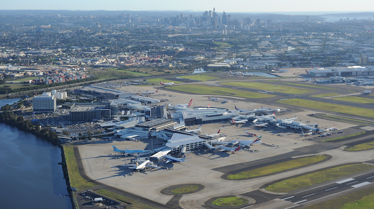 An aerial image of Sydney Airport. (Sydney Airport)