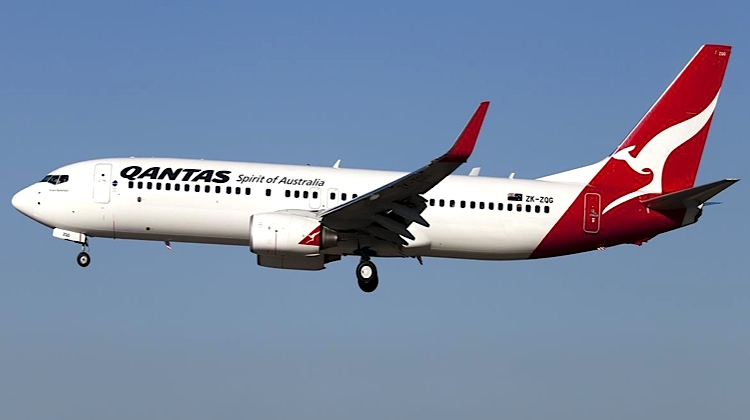 A file image of a Qantas Boeing 737-800 ZK-ZQG. (NZ TAIC/Jetconnect)