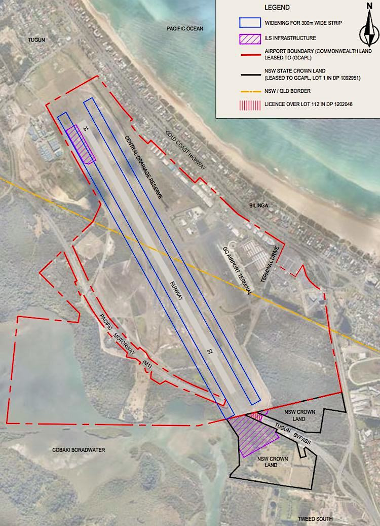 The proposed ILS installation at Gold Coast Airport. (Gold Coast Airport/Airservices)