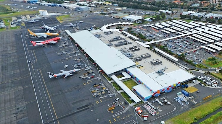 An aerial image of Gold Coast Airport. (Gold Coast Airport)