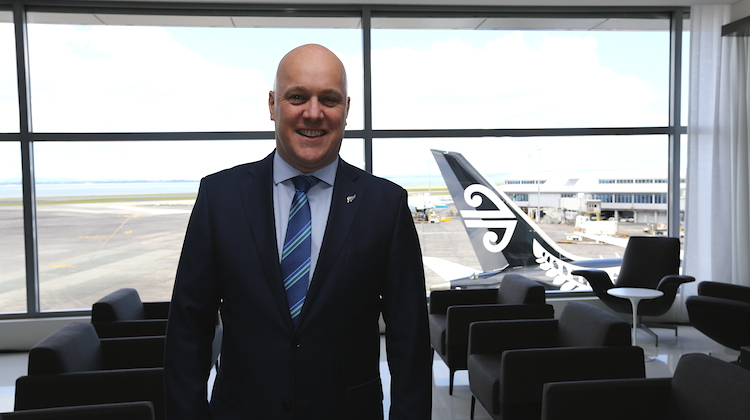 Air NZ chief executive Christopher Luxon at the unveiling of the new Auckland lounge. (Nicholas Young)