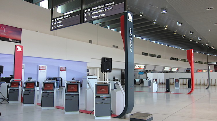 Virgin Australia's new home at Perth Airport's T1 Domestic Pier features self-service and staff-assisted checkin. (Jordan Chong)