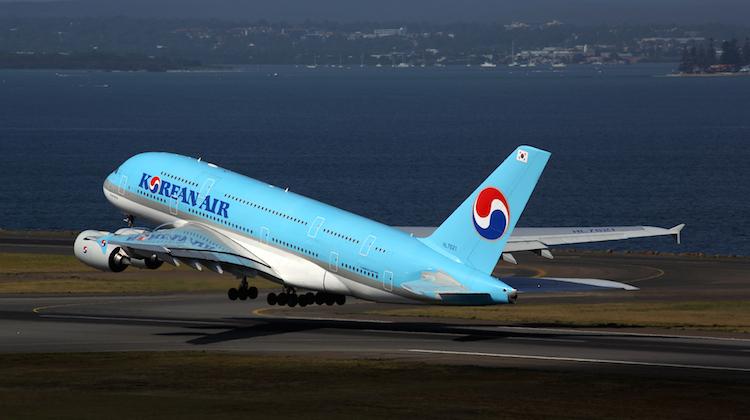 Korean Air Airbus A380 HL7621at Sydney Airport. (Rob Finlayson)