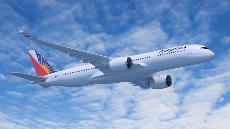 A computer rendering of an Airbus A350-900 in Philippine Airlines livery. (Airbus)