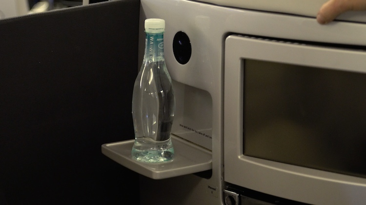 A supplied image of an Air NZ cocktail tray in business class. (Air NZ)