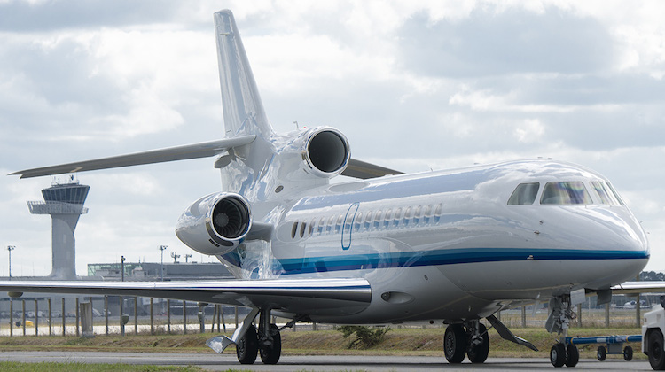 Dassault has delivered the first Falcon 8X to launch customer Amjet. (Dassault)