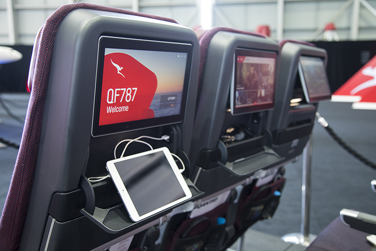 The new Recaro economy class seat to be installed on Qantas's Boeing 787-9. (Seth Jaworski)