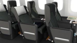 A supplied image of Qantas's 787-9 premium economy seat. (Qantas)