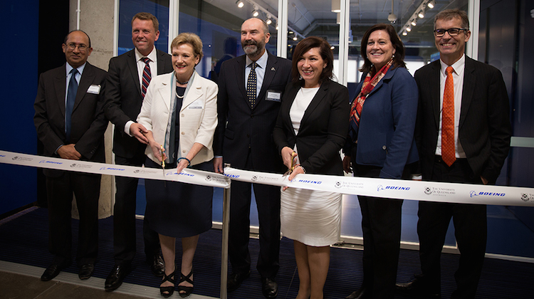 The official opening of the Boeing Research and Technology Australia centre at the University of Queensland. (Boeing)