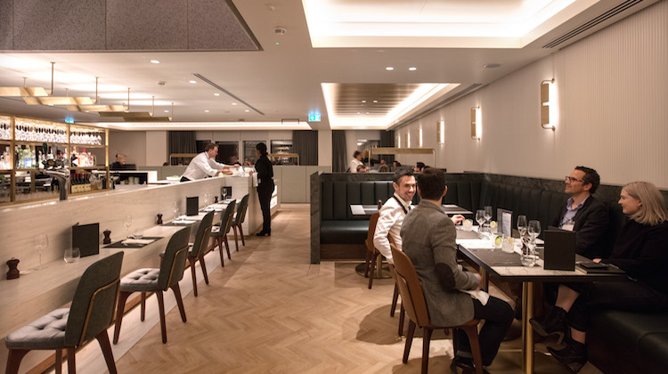 The food offering at Qantas's London Heathrow lounge will feature a la carte service with British fares such as ploughman's platters and pot pies alongside Australian dishes. (Qantas)