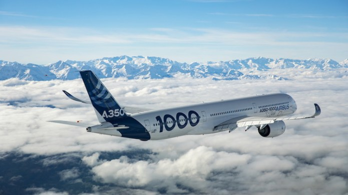 The Airbus A350-1000 is the second member of the A350XWB family. (Airbus)