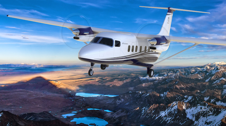 An artist's impression of the new Cessna Skycourier. (Textron)